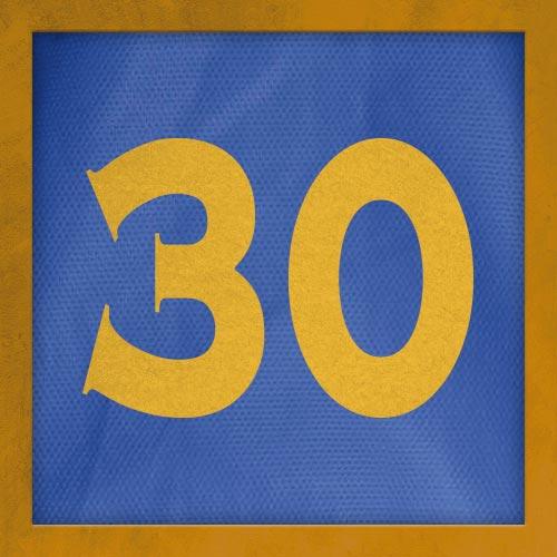 Dorsal numero 30